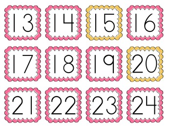 Counting by 5s and 10s (number cards) 1-100