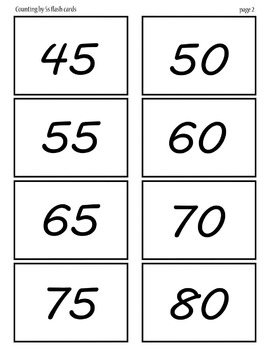 Counting by 5's flash cards 5-120 pages 3