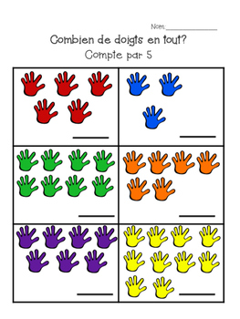 Counting by 5s in French