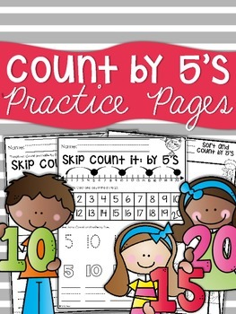 Counting by 5's {to 20}  Practice Sheets
