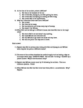 Counting by 7s - chapters 12-17 QUIZ