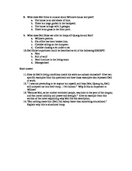 Counting by 7s - chapters 6-11 QUIZ