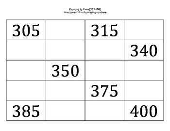 Counting by Fives (5-1000)