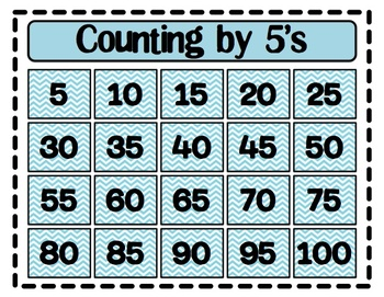 Counting by Fives (5's) Poster by Shannon Allison -- PrintPlanRepeat