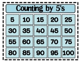 Counting by Fives (5's) Poster