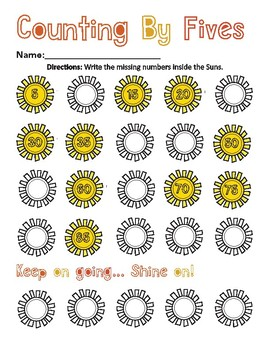 Counting by Fives Worksheet