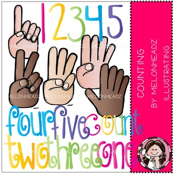 Melonheadz: Counting clip art - COMBO PACK
