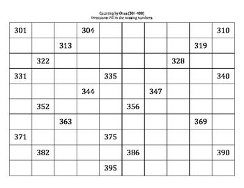 Counting by Ones (1-1000)