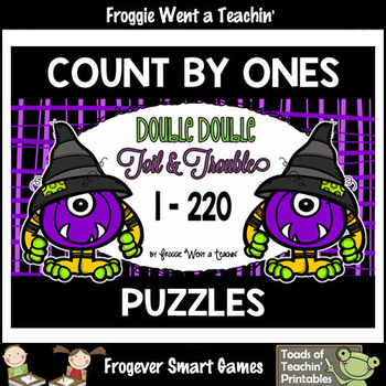 Counting by Ones--Number Sequencing Puzzles (1-220) Double Double Toil & Trouble