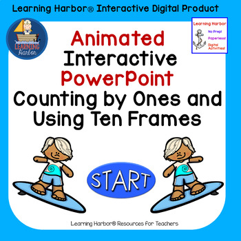 Counting and Using Ten Frames Beach Theme Animated Interactive ...