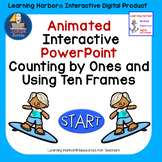 Counting and Using Ten Frames Beach Theme Animated Interac