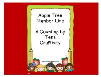 Counting by Tens Apple Tree Craftivity-Common Core Aligned
