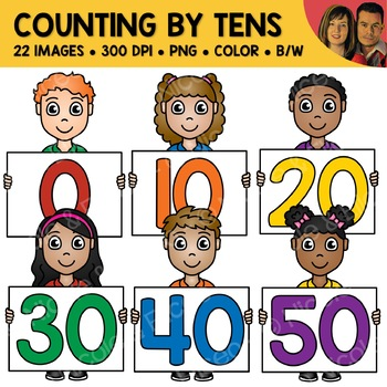 Counting by Tens Number Kids Clipart by Nicole and Eliceo ...