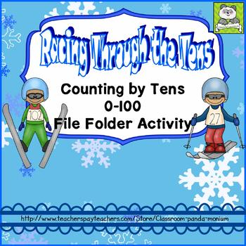 Counting by Tens File Folder Activity
