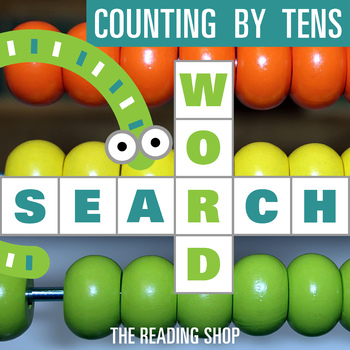 Counting by Tens, Numbers Word Search - Primary Grades - Wordsearch Puzzle