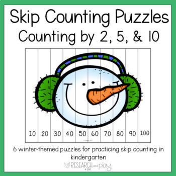 Winter Skip Counting Puzzles