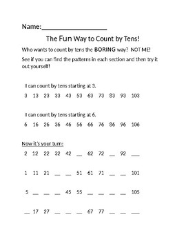 Counting by Tens the Fun Way!