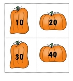 Counting by Tens with Pumpkins