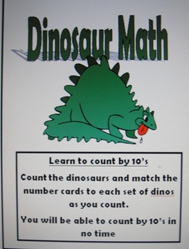 skip counting by ten's with dinosaurs