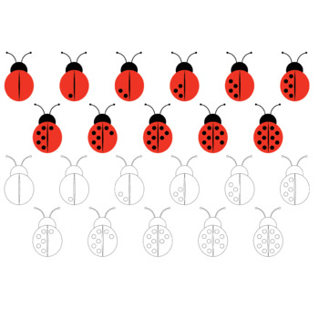 Counting clip art: ladybugs