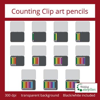 Counting clip art: pencils