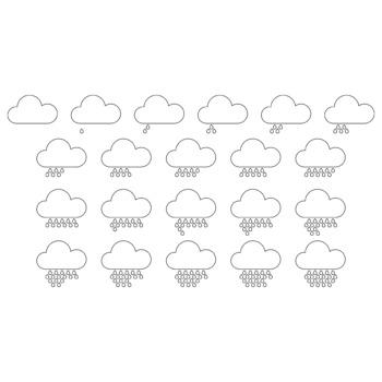 Counting clip art: rain