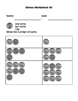 Counting coins- dimes 2