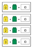 Counting cubes - making 10