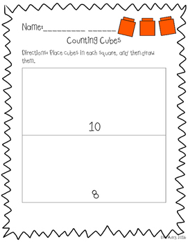 Counting cubes mats