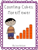 Counting cubes: more/fewer work mats