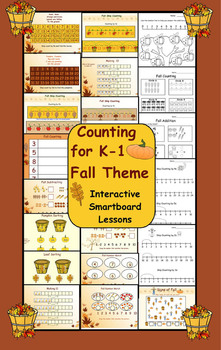 Counting for K-1 Fall Theme  Interactive Smartboard Lessons