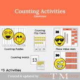 Counting for Preschool: Emoji Clip Cards