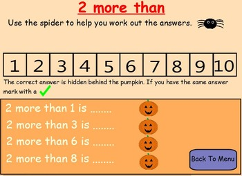 Halloween Counting Forwards & Backwards Using A Numberline.
