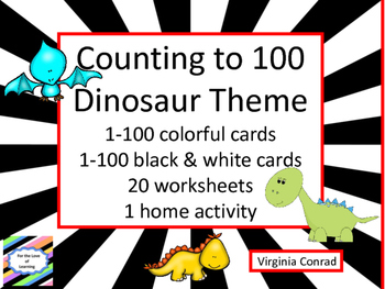 Counting from 1-100 with the Dinosaurs