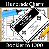 Counting from 1 to 1000 Number Chart Booklet - Common Core Aligned