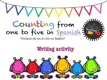 Counting from 1 to 5 in Spanish