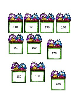 Counting in 10s to 1000 cards