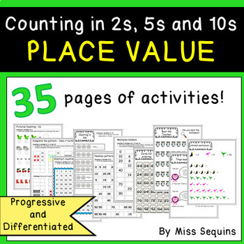 Counting in 2s 5s and 10s - mastery materials
