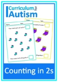 Counting in 2s Skip Counting Autism Math Task Box