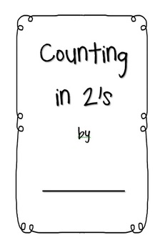 Counting in 2s activity booklet