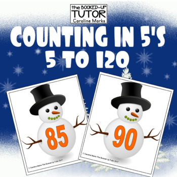 Counting in 5's Snowman COUNTING Cards 5-100 CHRISTMAS