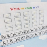 Counting in 5's - Time Tables - 5 Timestables Grid - Multiplication Practice.