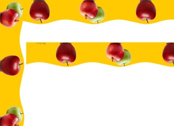 Bulletin Board Border - Scalloped apple border