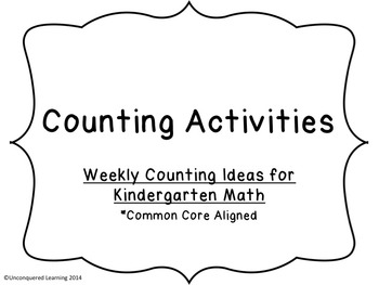 Counting in Kindergarten