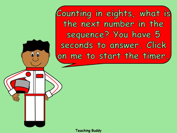 Counting in Multiples of 8 (PowerPoint, worksheets and wall display)