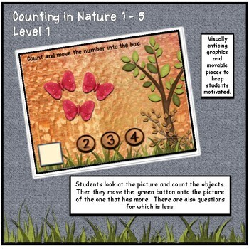 Counting in Nature Numbers 1-10 Interactive Math Digital Google™ Resource