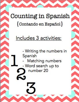 Counting in Spanish Mini-Booklet