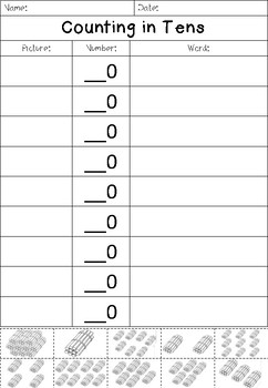 Counting in Tens/Decades - FREEBIE