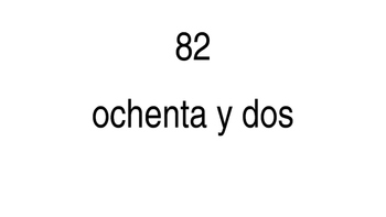 Counting in spanish