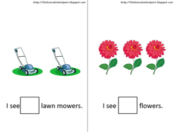 Counting in the Garden / Spring Interactive Book Autism, Special Education